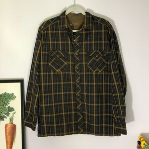 Kuhl Mens fall flannel long sleeved shirt size L
